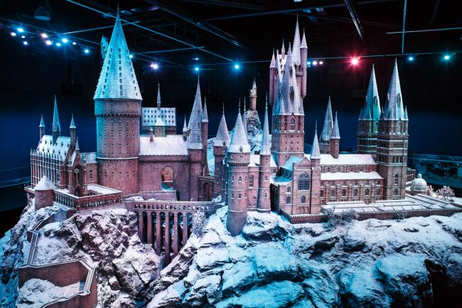 Hogwarts castle model in the snow. Credit: Warner Bros Studio Tour/Dan Wong Photography