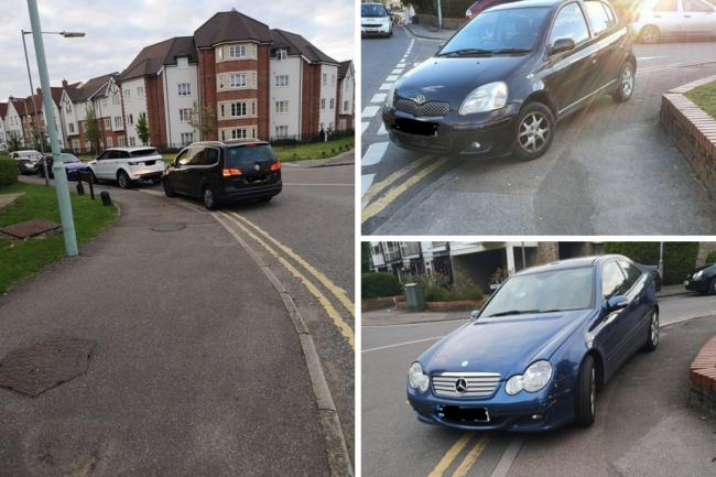 Chris Souza is calling for more enforcement action to be taken against cars that park on double yellow lines (photo Chris Souza)