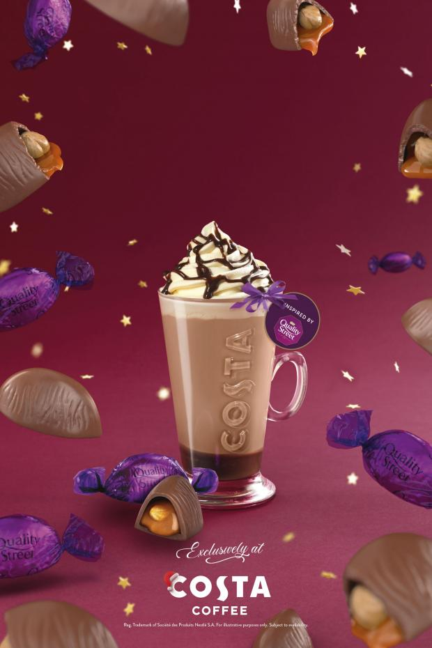 Watford Observer: The Quality Street Purple One Latte. Credit: Costa
