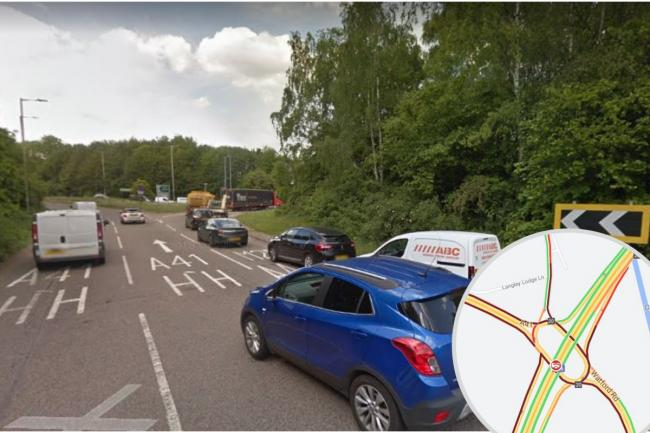 There has been a crash at the M25 J20 Roundabout