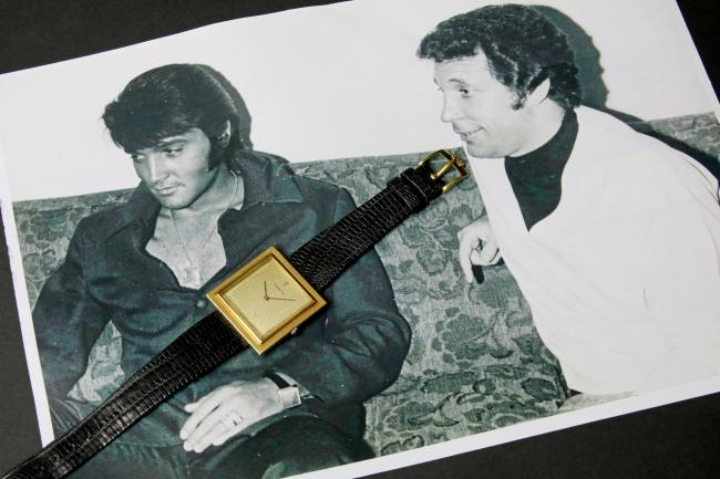 Elvis Presley's watch will be auctioned this month. Credit: JAT Publishing/ Joseph Tunzi