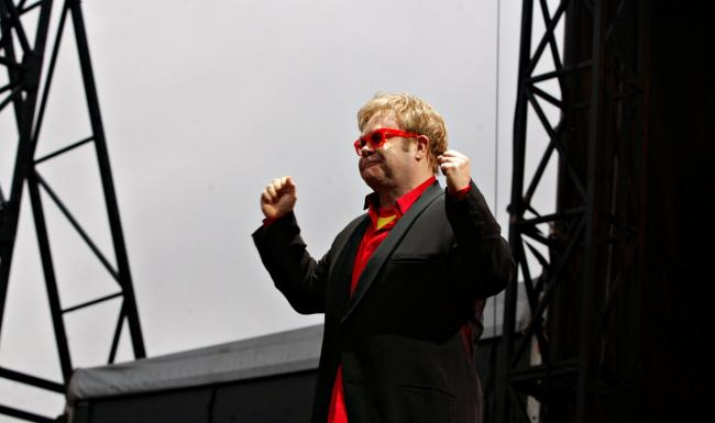 Elton John played his concert at Vicarage Road in May 2010
