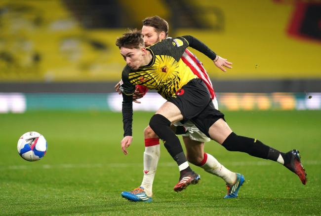 James Garner during Watford's win over Stoke City. Picture: PA