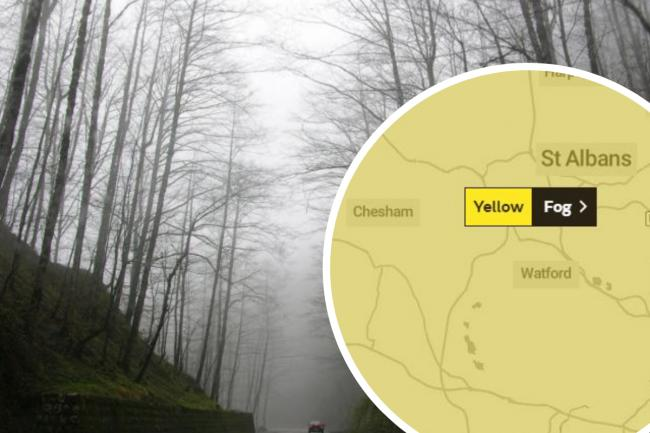 Fog is expected to hit Hertfordshire (photo Unsplash/Met Office)