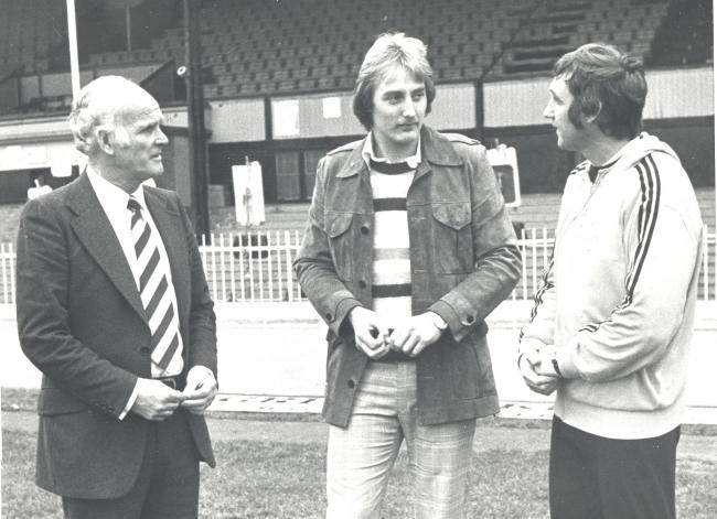 Steve Sherwood pictured after signing for Watford in 1976