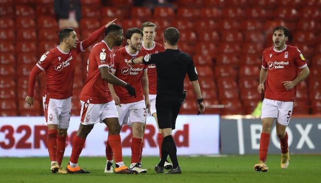 Nottingham Forest felt Nathaniel Chalobah should have seen red. Picture: PA