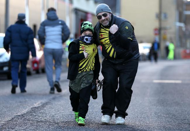 Watford fans return to Vicarage Road. Picture: PA