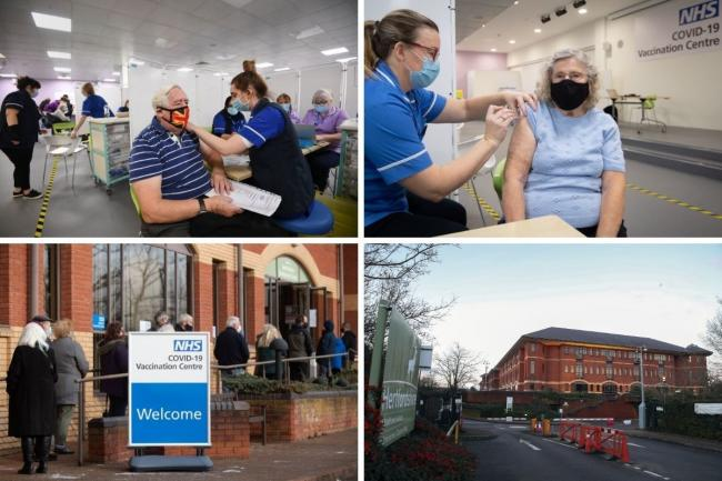 One of seven mass vaccination centres opened in Stevenage today. Credit: PA