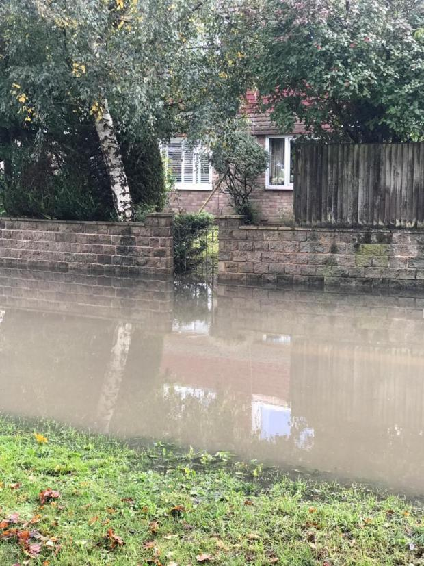 Watford Observer: Sewage water in the Harefield Road area (Photo: Sue Stimpson)