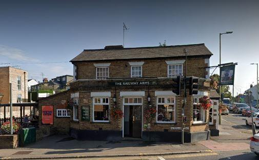Watford Observer: The Railway Arms (google street view)