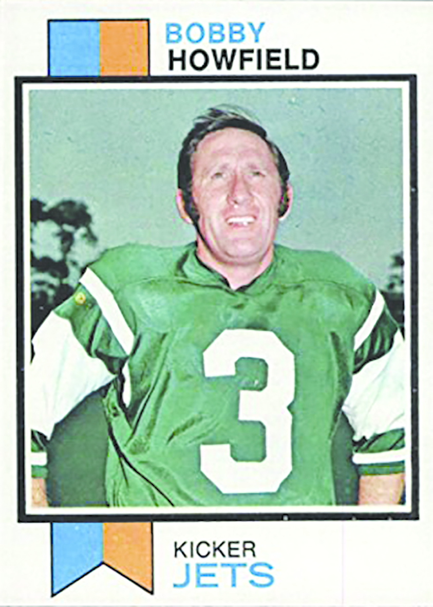 The players card during his time with the New York Jets