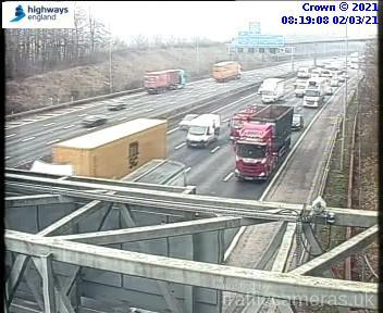 There is slow moving traffic on the M25 as the A41 is shut after a crash