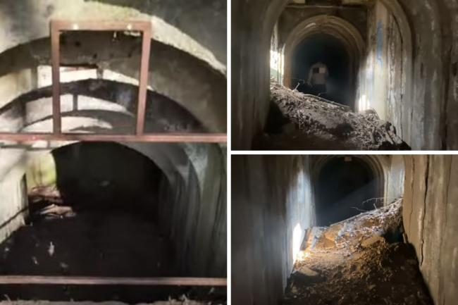 Inside the underground war bunkers at The Grove (photo Watford FromAbove Youtube)