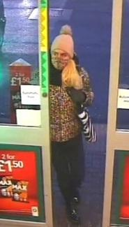 Police would like to trace this woman following a theft (photo Herts Police)