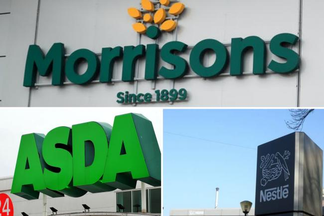 Asda, Morrisons and Nestlé recall products amid salmonella and choking concerns. (PA/Canva)