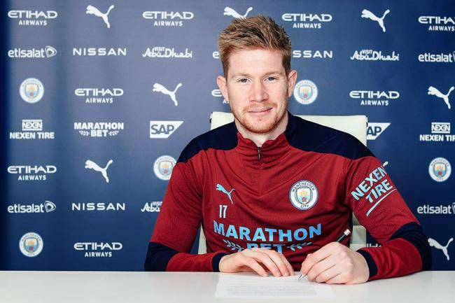 Kevin De Bruyne has signed a new contract extension at Manchester City
