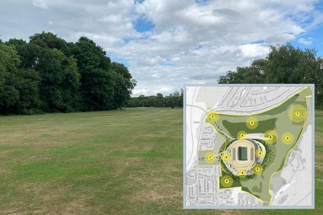 A stadium could be built at Bushey Hall Golf Club