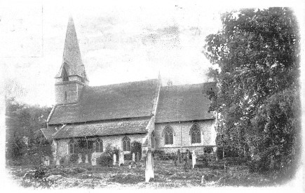 Leavesden All Saints Church - circa 1900