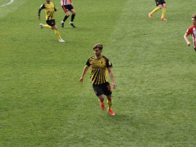 Maurizio Pochettino during his senior Watford debut. Picture: Ryan Gray