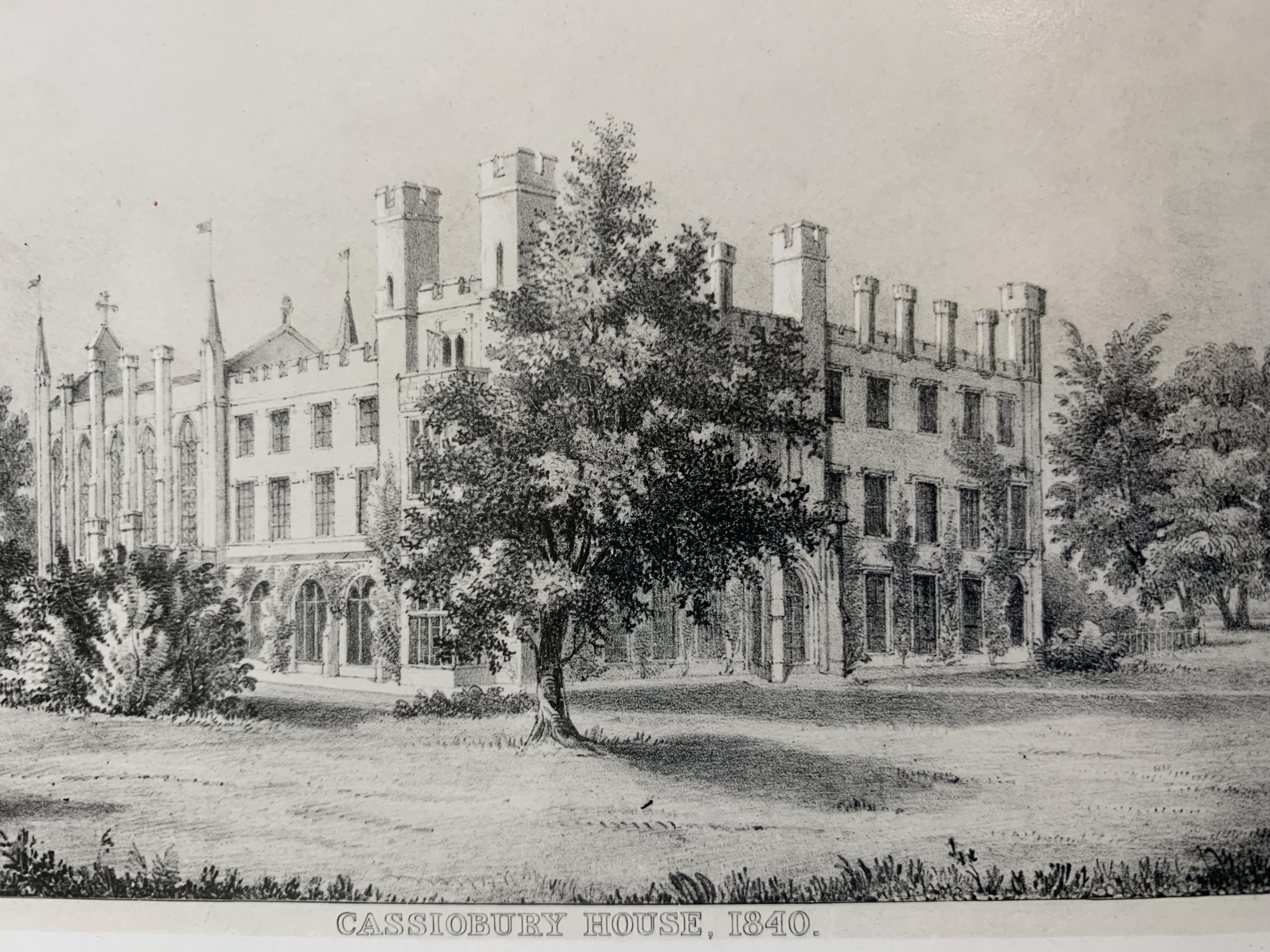 Cassiobury House 1840