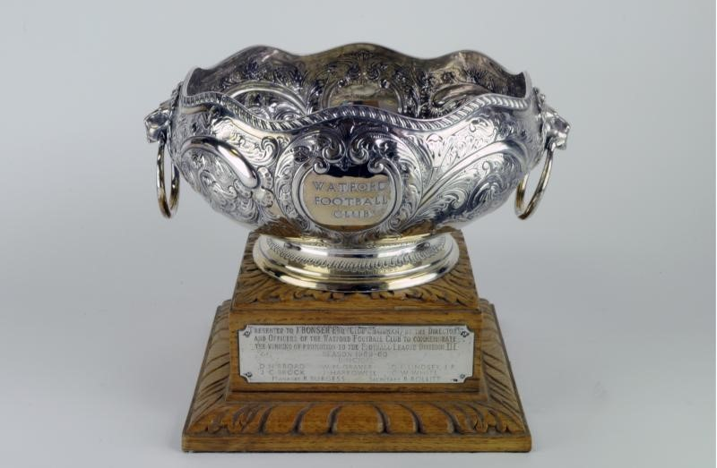 The first title-winning trophy won by Watford FC