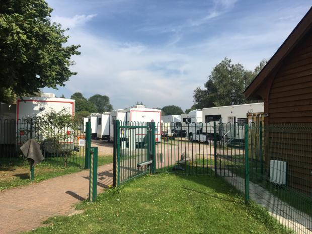 Watford Observer: Grantchester filming crew at the Rudolf Steiner school