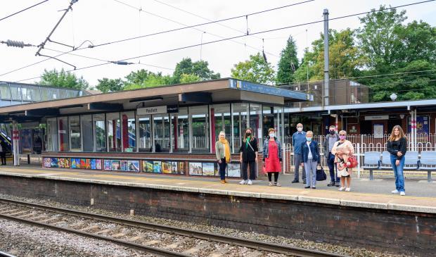Watford Observer: Art on display at Radlett train station. Credit: Peter Alvey