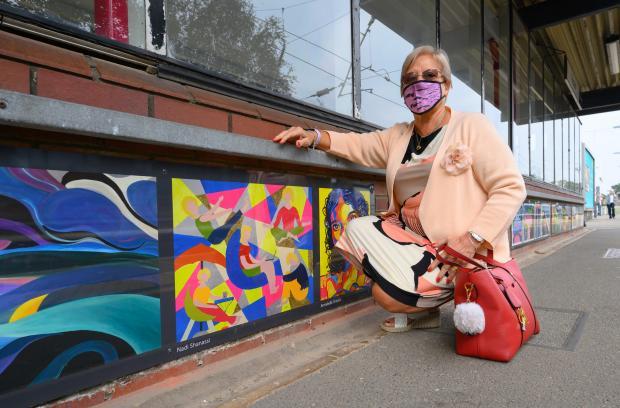 Watford Observer: Artist Nadi Shanassi at Radlett station. Credit: Peter Alvey