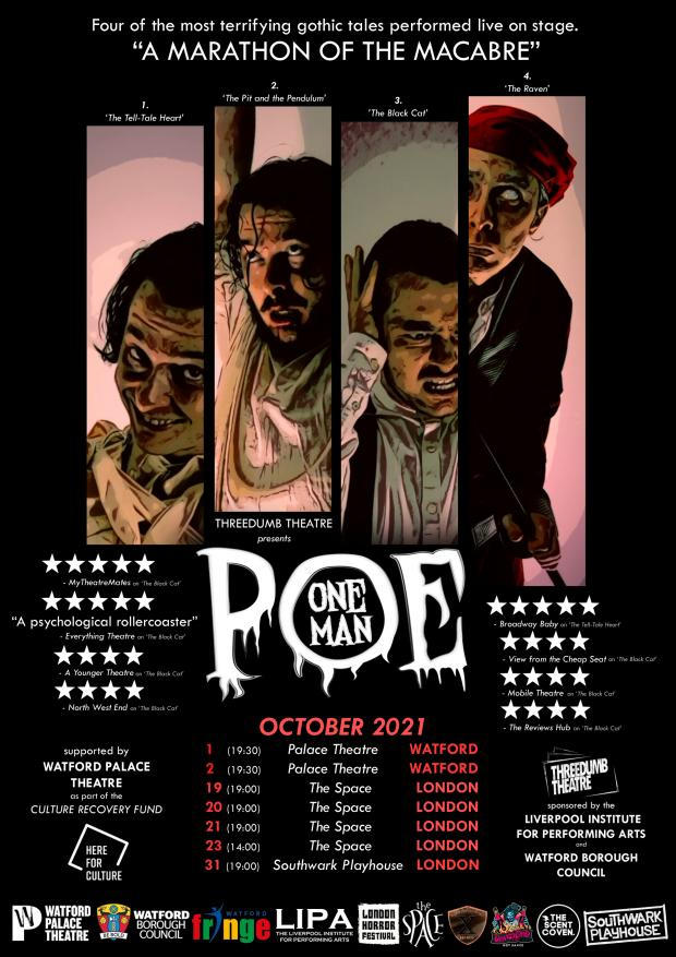 Watford Observer: One Man Poe poster