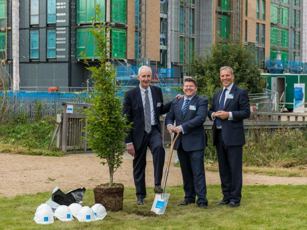 Watford Observer: A tree was planted to mark the completion of the exterior buildings phase