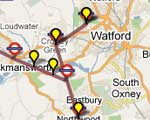 Watford Observer: Live Tube Map