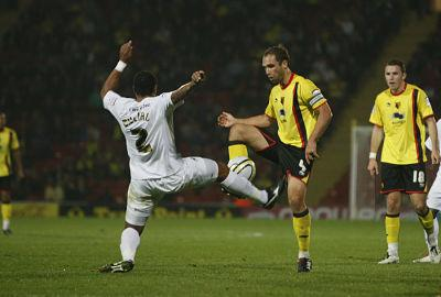 Watford captain John Eustace could return against Crystal Palace tonight