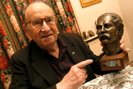Terry Seabrooke pictured in 2009 with his Maskelyne award