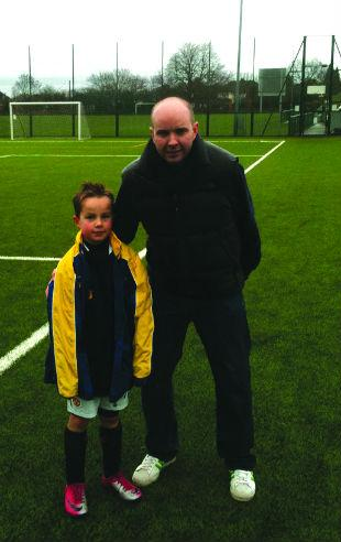 Matthew Bigg, 37, of the Verulam estate off King Harry Lane, is planning to raise money for his eight-year-old son Alfie's football team Harvesters FC.