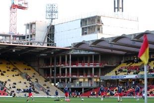 Watford Observer: Watford hope work on Vicarage Road's south-west corner can start around October
