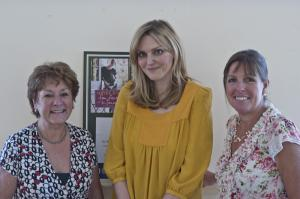 Sophie Dahl with Chorleywood bookshop owners Sheryl Shurville and Morag Watkins