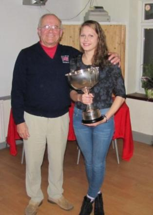 Katie Armitage (pictured with Terry Davies) will be in action at the Commonwealth Games