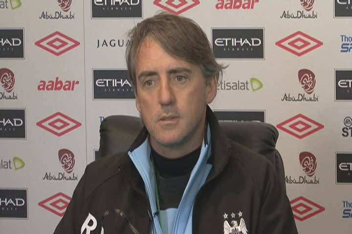 The Hornets will face Manchester City boss Roberto Mancini next month: Action Images