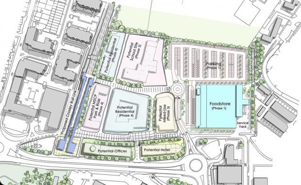The designs for the Morrisons development.