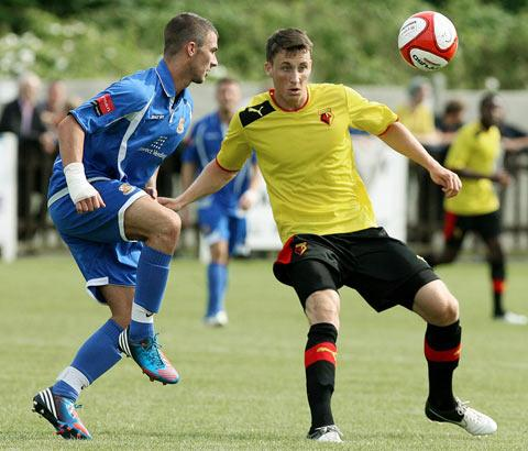Craig Forsyth in action at Wealdstone on Saturday.