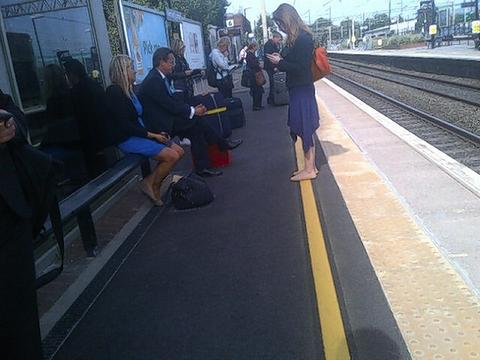 Prime Minister David Cameron spotted at Watford Junction