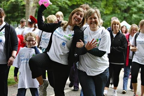 More than 100 walkers took to Cassiobury Park to remember loved ones and help beat dementia.