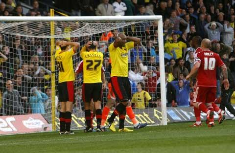 Ten-man Hornets suffer Boro defeat