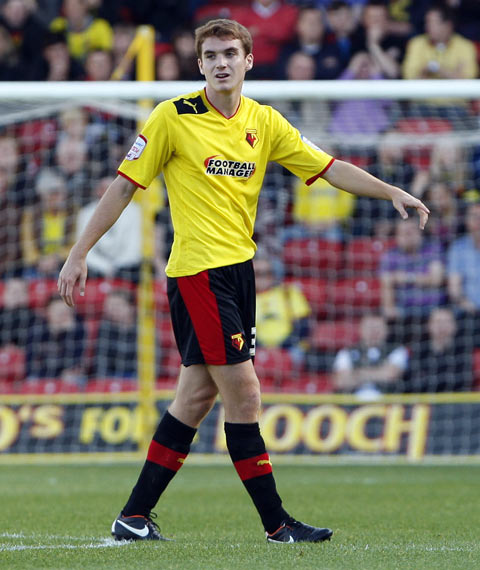 Watford's Tommie Hoban started his first match in almost a year against Reading Under-21s. Picture: Action Images