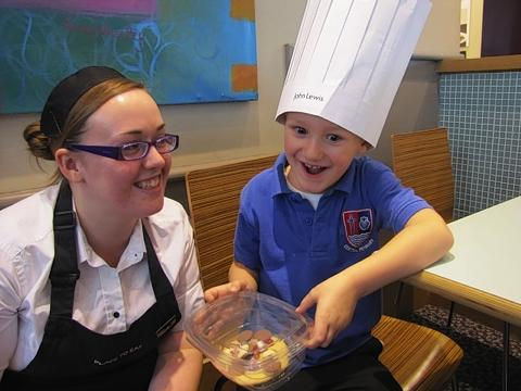 Pupils show off their baking skills