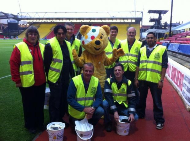 Pudsey visited Watford Football Club to raise cash for Children in Need.