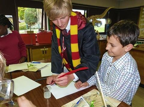 Pupils under spell of witchcraft and wizardry workshop