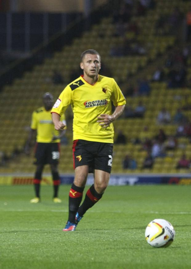 Watford midfielder Almen Abdi should be fit for the visit of Leicester City. Picture: Holly Cant