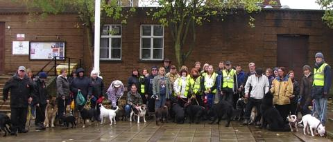 Charity dog walk in memory of fallen soldiers