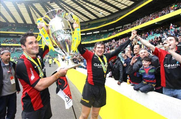 Alex Goode and Brad Barritt (Picture: Action Images)